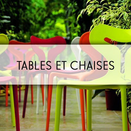 Tables et chaises LC Conception